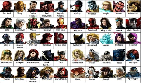 Avengers vs X-Men Game (Character Select Screen) by