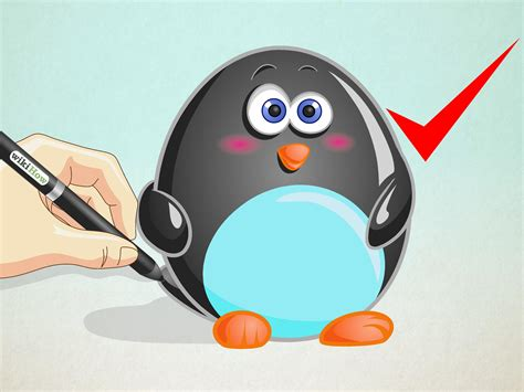 How to Draw a Cartoon Penguin: 13 Steps (with Pictures
