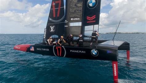 Oracle Team USA installs cycle grinder on boat replicating