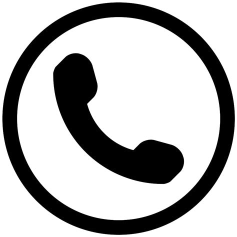 Auricular Phone Symbol In A Circle Svg Png Icon Free