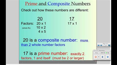 Prime and Composite Numbers - YouTube