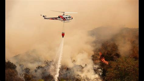 Wildfires California-Fire Fighting Helicopters in