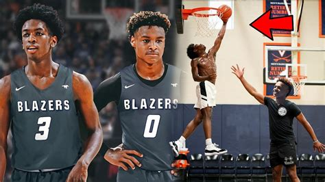 Bronny James and Zaire Wade Already THROWING LOBS To Each
