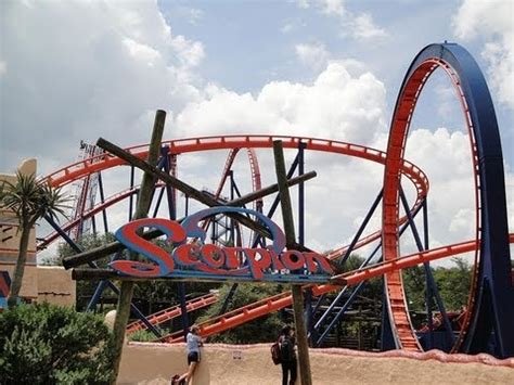 Scorpion Roller Coaster Front Seat On-Ride POV - YouTube
