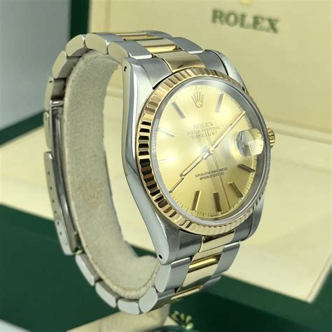 1994 Rolex 16233 DateJust 36mm Steel And 18k Gold Dial