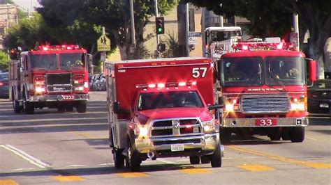 LAFD Light Force 33 & Rescue 57 - YouTube