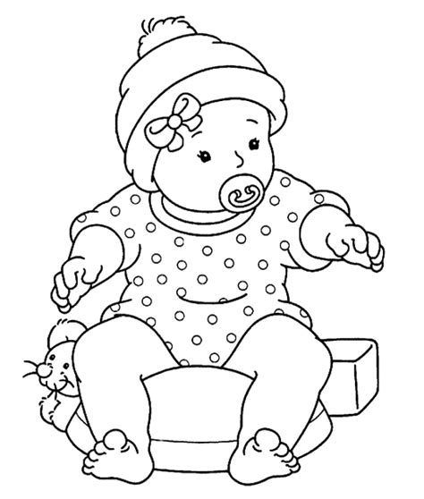 Baby coloring pages | The Sun Flower Pages