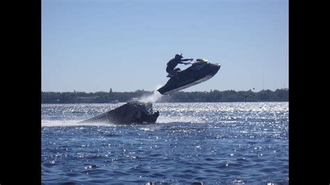 Jumping a Ramp with Seadoo RXPs and an X Scream Standup