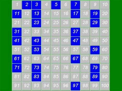 Prime Numbers - The Sieve of Eratosthenes - YouTube