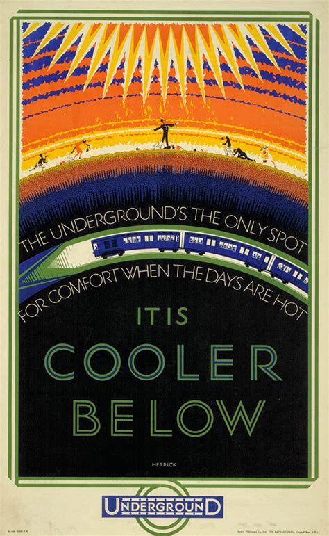 Vintage London Underground Posters On Exhibition For The