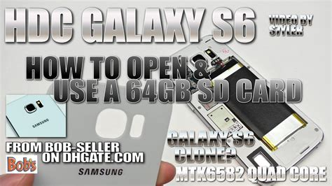 How to insert SD Card in the HDC Galaxy S6, MTK6582