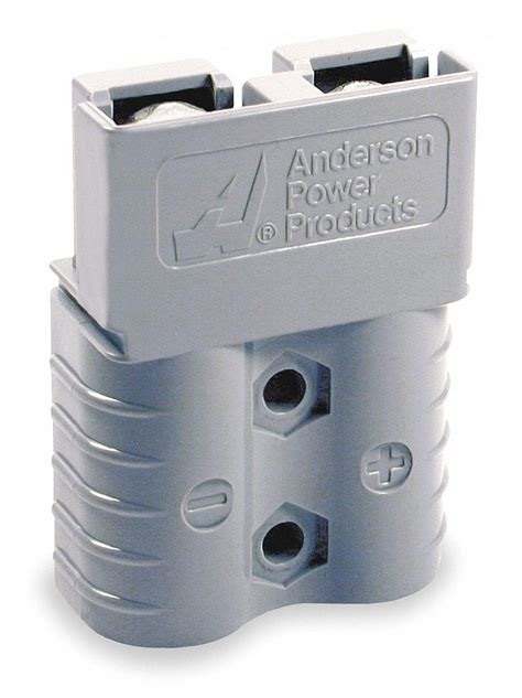 ANDERSON POWER PRODUCTS Power Connector, Gray, 4 Wire Size