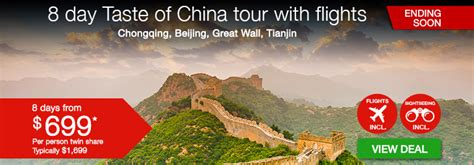 China with flights   China Packages   Webjet Exclusives