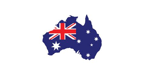 Australia Flag Map - Vector and Transparent PNG | The