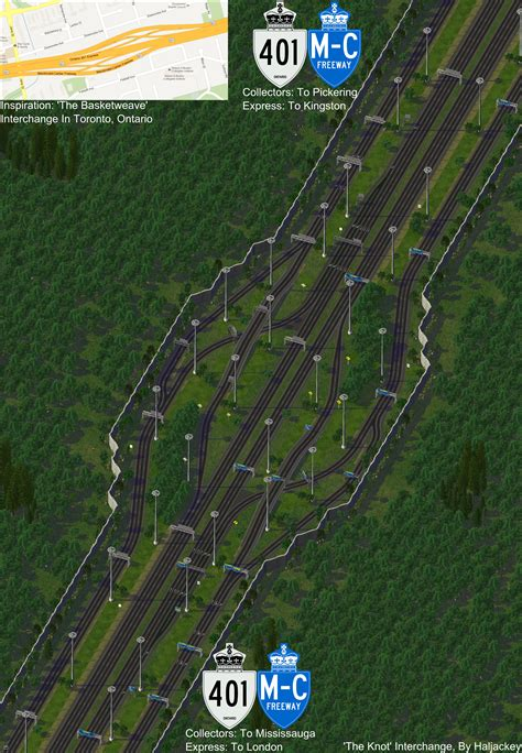 My newest Real Highway interchange with the original