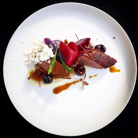 Smoked duck, roasted beetroot & pickled cherries