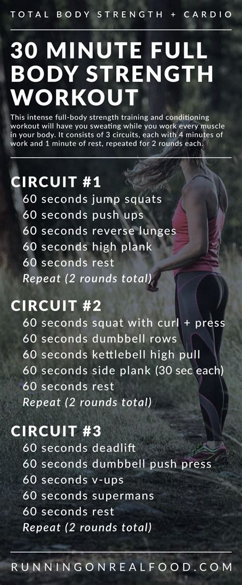 30 Minute Full-Body Strength Training Workout for the Gym