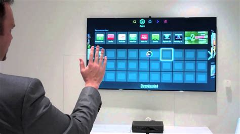 Samsung Gesture Recognition Technology TV Demo At CES 2013